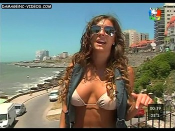 Noelia Marzol hot cleavage video